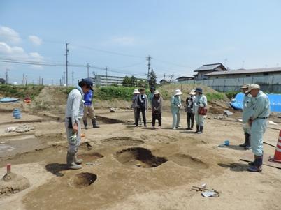 小島・柳原遺跡群の検出遺構の説明