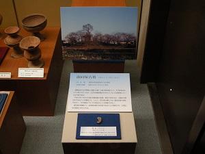 南向塚古墳勾玉の展示の様子