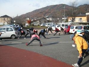 準備体操の写真