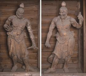 木造金剛力士立像(左:吽形像 右:阿形像