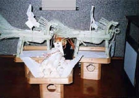 桐原牧神社の藁馬づくり