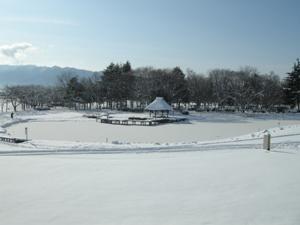 八幡原史跡公園の雪景色