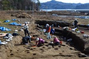 片岸貝塚の発掘調査
